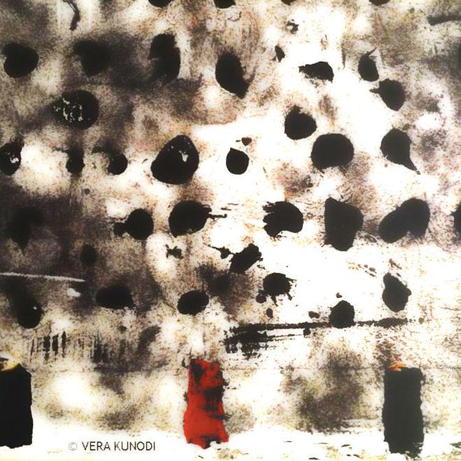 Mur de béton tacheté par peinture